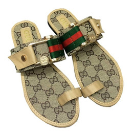 Slippers Summer Shoes Adult Australia - Women Sandals Designer Shoes Luxury flip flops sandals Summer Fashion Wide Flat Slippery With Sandals Slipper flip flops big size 35-42