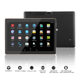 32 Inch Tablet Australia - SANNUO new 2+32 Android 7.0 quad-core tablet Office portable tablet 3G WiFi Bluetooth GPS1280*800IPS HD large screen