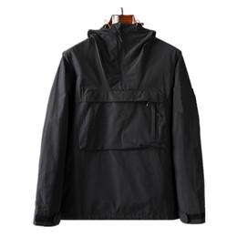 Wholesale topstoney 2020 New hooded half zip pocket jacket Youth fashion European and American casual jacket Men's coat Nylon fabric Men's sheath
