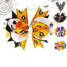 Swallow acceSSorieS online shopping - 4 colors kids baby Girls Halloween D multi layer hair bows Swallow tail hairpin duckbill clips jojo siwa Barrettes hair accessories