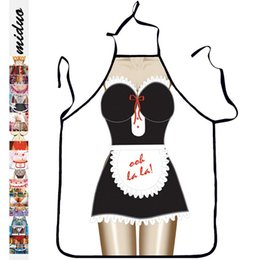 $enCountryForm.capitalKeyWord NZ - Kitchen Apron 3D Printed Bibs Sexy Woman Funny Pinafore Cooking Baking Party Cleaning Cute Kitchen Aprons For Women Avental