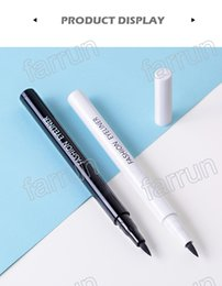 Product Easy Australia - liquid eyeliner white+black pencil =1set fashion eyeliner make up fast dry and long lasting no logo product accept your private label