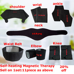 Magnetic knee supports online shopping - Adjustable Tourmaline Self heating Magnetic Therapy Waist Belt Lumbar Support Back Waist Support Brace knee Protect Elbow warm