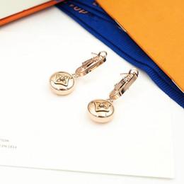 design luxe femmes bijoux boucle d oreille 2020 boucles d'oreilles en acier inoxydable boucles de créateurs de la marque en Solde