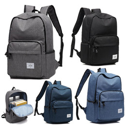 $enCountryForm.capitalKeyWord Australia - 2019 Wholesale Backpack Travel Sports outdoors Men and women canvas bags Schoolbag Durable 16 inches Computer package Grey Black Blue P031