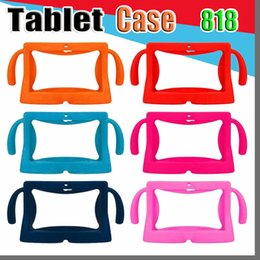 china kids tablet pc Canada - 818 DHL Kids Soft Silicone Rubber Gel Case Cover For Q88 A13 A23 A33 Q8 Android Tablet PC