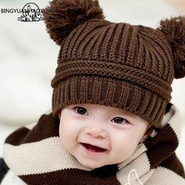 Baby Boy Skull Crochet Beanies Australia - BINGYUANHAOXUAN Cartoon Baby Hat New Arrival Hat Hats Knitwear Winter Hold Warm Crochet Cute Girl Boys Beanie Cap