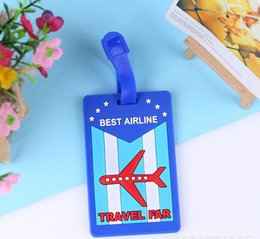 $enCountryForm.capitalKeyWord Australia - PVC silicone luggage tag travel luggage Tag suitcase boarding pass board Checked card Mixproof Boarding Tag Address Label Name ID Tags