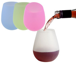 Glasses For Free Australia - Silicone Beer Cups Foldable Silicone Wine Glasses Unbreakable Collapsible Stemless Beer Whiskey Glass Drinkware for Camping DHL free