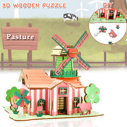 $enCountryForm.capitalKeyWord NZ - Wooden 3D House Building Puzzles Toys for Kids DIY Tulip Pasture Model Kits Educational Gifts Desktop Home Decor