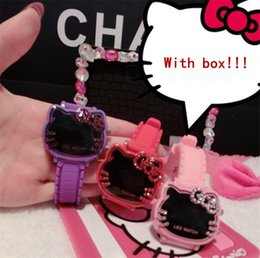 da79feac7 Hello Kitty Watch with Diamonds Kitty Watch led Electronic for Children and  Girls