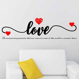 Love Wall Stickers For Bedrooms Australia - Europe Style LOVE Wall Sticker for Living Room Bedroom Couple Lover Sticker Heart Sticker Valentine's Day Art Decals Home Decor