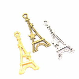 Wholesale 2019 mm Alloy Pendant Ancient bronze Ancient Silver Golden color Five pointed star Eiffel Tower Necklace DIY Alloy Jewelry accessories