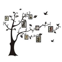 $enCountryForm.capitalKeyWord Australia - Wall Stickers 180*250cm 3D DIY Photo Tree PVC Wall Decals Adhesive Mural Art Home Decor wall stickers for home drop shipping