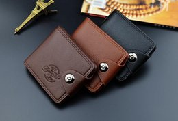 Business Card Holder Magnetic Australia - Men's wallet short European and American magnetic buckle multi-purpose Wallet
