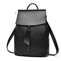 c16fb638ab good quality 2019 Women Backpack Travel Bag For Women Minimalist Design  Little Tie Zipper Casual Daypack Mochila Female Famous Brand