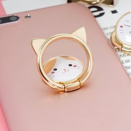$enCountryForm.capitalKeyWord Canada - Lovely cat Phone Holder 360 Degree Ring Cell Phone Alloy Metal Ring Card Holders Mounts for iphone XS max XR 8 7 DHL free shipping