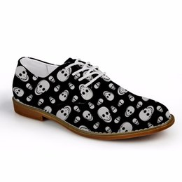 $enCountryForm.capitalKeyWord Australia - Customized Luxury Men Fashion Cool Skull Printed Casual Lace-up Shoes Formal Synthetic Leather Oxford Male Shoes Zapatos