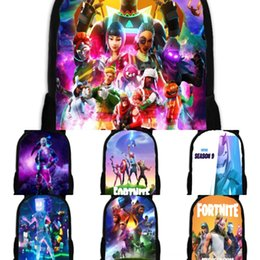 women canvas lace backpacks UK - cs set Canvas School Bag For Teenager Bags fortnite fortress night Students Larger Capacity Women School Travel Laptop Backpack Female Iob2Z