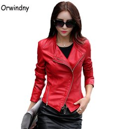 women s white motorcycle jacket UK - Cheap Jackets Motorcycle clothing female spring and autumn slim women jacket brief short casual coat S-4XL