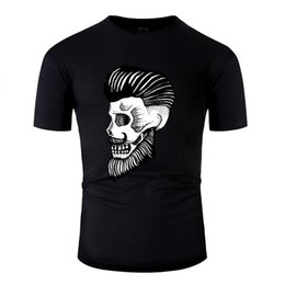 mens t shirts printing style 4xl NZ - Novelty Skull Style T Shirt Men Women Printed Hip Hop Mens T Shirt Humorous Famous Plus Size 3xl 4xl 5xl Unisex