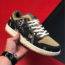 basketball dunking shoes UK - xshfbcl SB x Travis Scott Dunk Low QS Cactus Kids youth junior mens Running Shoes Athletic Sneaker Cactus Jack Trianers Sport Skateboardin