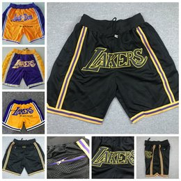 Vente en gros Juste Hommes Don LeBron James 23 LosAngelesLakersCousu Sport professionnel Basketball Shorts Gym Short Shorts formation
