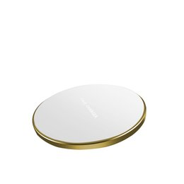 QI Rodada Wireless Power Charger Pad Indicador Com a Mobile Phone ouro