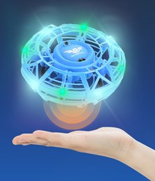 helicopter boxed UK - Gesture sensing induction suspension aircraft with 360 rotating and shinning flying drone mini drone Helicopter creative Toy for kids 01