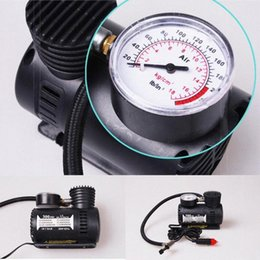 mini compressor car UK - 12v Car Mini Compact Compressor Bike Tyre Air Inflator 300psi New Plug the power cord into the cigarette lighter socket #BC SQY6#