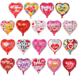 aluminium heart balloon Australia - Valentine's Day Decorations Balloon I Love You Printed Balloons Toys Aluminum Film Love Heart Balloon For Wedding Party Festival Supplies