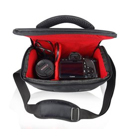 waterproof camera bag case Canada - DSLR SLR Camera Bag Case for Canon EOS 100D 550D 600D 700D 750D 60D 70D 5D 1300D 1200D 1100D Waterproof Shoulder Bag Cover Case T191025