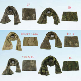 mesh veils UK - Outdoor Multifunction Camouflage Mesh scarf Tactical scarf Sniper Face Veil Scarves for Hunting Hiking