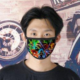 Toptan satış Ücretsiz DHL Kargo Dragon Ball Z Kai 0620 Sevimli Yüz Karikatür facemasks İçin Bayanlar Buz İpek Çift Masque Tissu'da Tapabocas ToDHV Maskesi