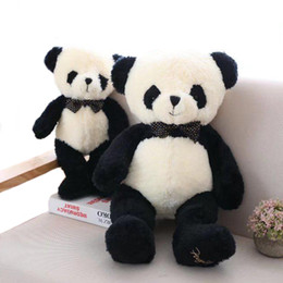 baby panda bears Australia - 1pc40-80cm Lovely Panda Plush Toys Stuffed Soft Cartoon Animal Doll Cute Bear Gift for Children Kids Baby Girls Valentine's Gift MX200716