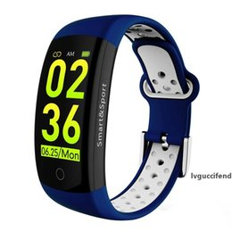 3d smart watch UK - Q6S Smart Bracelet Colors 3D dynamic Blood Pressure Heart Rate Monitor Smartband Wristband Waterproof Sports Fitness Watch Band