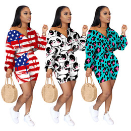 women tops xxxl summer 2021 - Fashion Women Shorts Tracksuit Long Sleeve Hoodies T Shirt Tops + Shorts Two Piece Set Outfits Trendy Print Summer Sports Suits 2020 S-XXXL