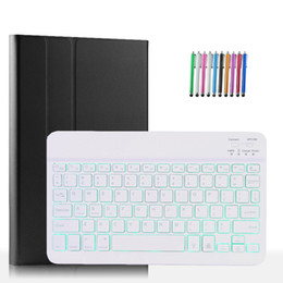 keyboard wireless tab UK - Magnet PU Leather Case with Detachable Wireless Backlit Keyboard for Samsung Galaxy Tab S6 Lite 10.4 SM-P615 P610 P615 Smart Cover+Pen