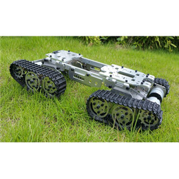 Freeshipping Alloy Metal Tank Chassis Tractor Crawler Balance Tank Chassis RC Tank Mount Truck Robot Chassis Arduino Car