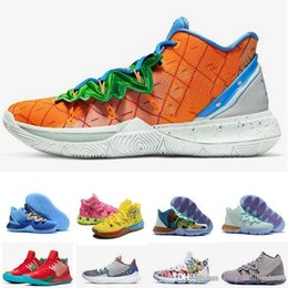 Wholesale rugby house online – design Pineapple House Kyrie Mens Basketball Shoes Irving s Graffiti Sponge Keep Sue Fresh MultiColor Sports Sneakers