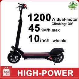 electric skateboard battery UK - 1200w Dual-Motor Electric Kick Foldable Scooter 10inch Tire Max 45KM 22Ah Battery Smart Scooter High Power Skateboard E-scooter