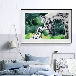 canvas prints horses Australia - Large Water Color Horse Animals Canvas Paintings Wall Art Posters Decorative Prints Posters Best Gifts Living Room Home Decor