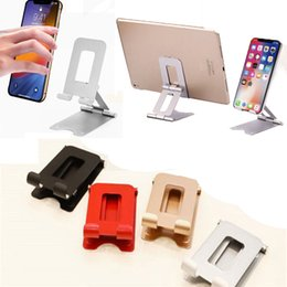 universal adjustable tablet stand UK - Adjustable Cell Phone Stand Dual Foldable Desktop Rotary Tablet Stand Phone Holder Mount Bracket for Phone e-Reader laptop up to 12.9IN