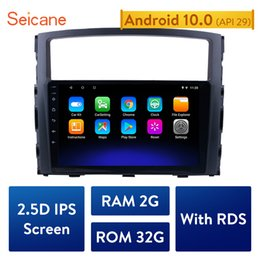 gps hd Canada - Seicane 3D GPS Nav Android 10.0 3G WIFI Bluetooth HD Touchscreen Car Stereo FM AM Radio For 2006-2013 Mitsubishi PAJERO V97 V93