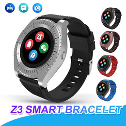 kids gps smartwatches Canada - Smart Watch Z3 Bluetooth Wireless Smartwatches with SIM Card Slot Camera HD Display for Android IOS Universal Cellphones Relógio Inteligen