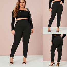 bandage leggings xl Australia - Women Stretch High Waisted Leggings Bandage High Waist Casual Long Workout Pant Fitness Stretch Leggings Trousers Pant Plus Size Xl 4Xl