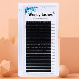 mixed tray eyelash UK - 16 Rows CD 9~16mm Mix In One Tray Natural Faux Mink Individual False Lash Eyelash Extension Makeup Cilia Professional