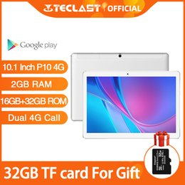 2gb ram gps tablet Canada - Teclast P10 4G 10.1 Inch Tablet Android 8.0 MTK6737 Quad Core Dual call GPS 2GB RAM 16GB ROM Camera Phone Call Tablets