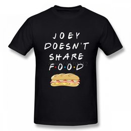 food t shirts Australia - DoesnShare Food TV Show Friends T-shirt For Men Short Sleeve Cotton Plus Size Custom Tee