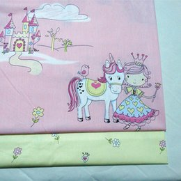 cushion printing NZ - half meter princess castle print 100% cotton twill fabric for bedding dress baby's cloth CR-A453